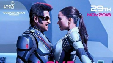 2.0 New Poster: Rajinikanth And Amy Jackson's Romance In The Time Of Robots Is Electrifying! View Pic